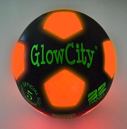 Light Up LED Soccer Ball Black